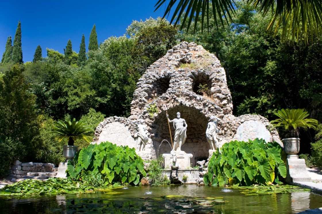 Fountain in Trsteno Arboretum, Croatia